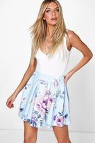 Boohoo Aliza Large Floral Skater Skirt