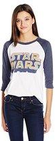 Junk Food Clothing Women's Star Wars 3/4 Raglan Tee