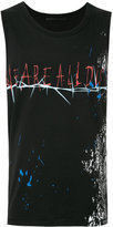Haider Ackermann front print tank top - men - Cotton - M