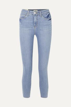L'Agence Margot Cropped High-rise Skinny Jeans - Light denim