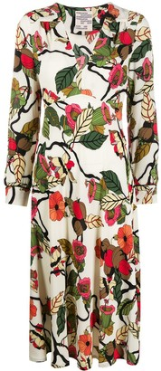 Baum und Pferdgarten Floral-Print Midi Dress