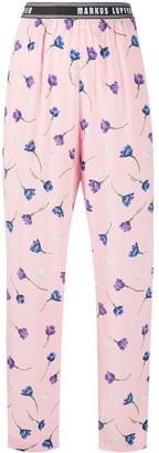 Markus Lupfer Kamile floral print track pants