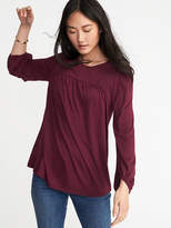 Old Navy Lace-Trim Balloon-Sleeve Top for Women