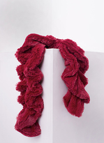 Missy Empire Alina Red Twisted Fluffy Scarf