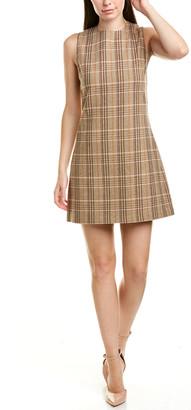 Alice + Olivia Coley A-Line Wool-Blend Dress