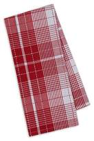 "Design Imports Red Plaid Dishtowel Red Set Of 4 (18""X28"")"