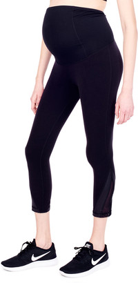 Ingrid & Isabel Maternity Active Mesh Detail Capri Leggings