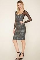 Forever 21 Mesh Tribal Print Dress