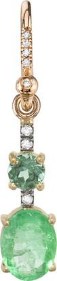 Irene Neuwirth One-Of-A-Kind Colombian Emerald Diamond Rose Gold Single Earring