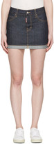 DSQUARED2 Blue Denim Glam Head Miniskirt