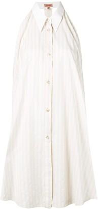 Romeo Gigli Pre-Owned striped shirt dress