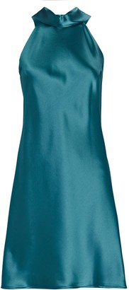 Galvan Sienna Satin Mini Dress