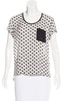 Rag & Bone Silk Chevron Print Top