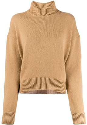 Laneus Ribbed Roll Neck Jumper