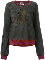 Pam & Gela embroidered tiger sweatshirt - women - Cotton/Metallic Fibre - M