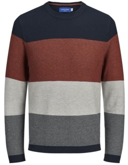 Jack and Jones Men's Colored Long Sleeve Sweater