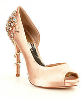Antonio Melani Carean Jewel Detailed Peep Toe Pumps