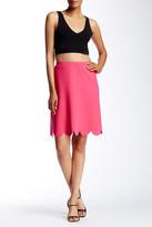 Spense Scuba Scallop Hem Skirt