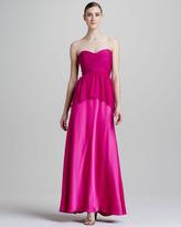 Aidan Mattox Strapless Peplum Combo Gown
