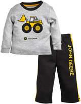 John Deere Gray & Black Front Loader Crewneck Tee & Sweatpants Set - Infant