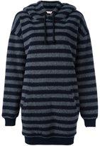 A.F.Vandevorst 'Famous' longline hoodie - women - Wool/Polyamide/Polyester - 34