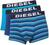 Diesel 3 Pack Of Stripe And Plain Trunks