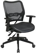 Office Star Deluxe AirGrid Back Office Chair in Black