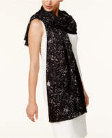 INC International Concepts Metallic-Print Wrap & Scarf in One, Created for Macy's