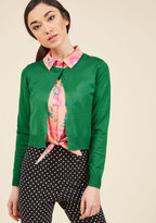 ModCloth A Take on Timeless Cropped Cardigan in Clover in M
