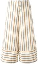 See by Chloe striped cropped trousers