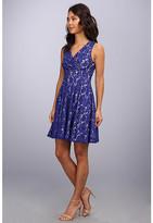 Eliza J Lace Surplice Dress