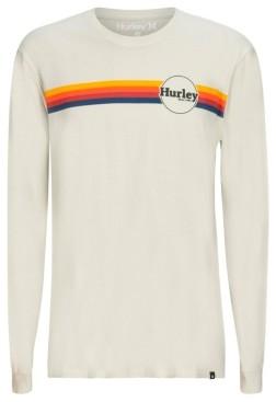 Hurley Men's Jammer Premium Stripe Logo Graphic T-Shirt