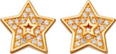 Astley Clarke Mini star biography 18ct yellow gold-plated and sapphire stud earrings