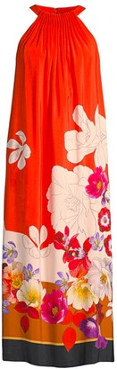 Kobi Halperin Coral-Printed Midi Dress