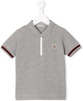 Moncler zip front polo shirt - kids - Cotton/Polyamide - 4 yrs