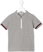 Moncler zip front polo shirt