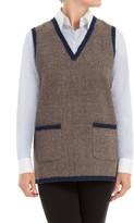 Max Studio Heathered Wool Needlepunched Vest