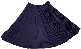 Leroy Veronique Blue Viscose Skirts
