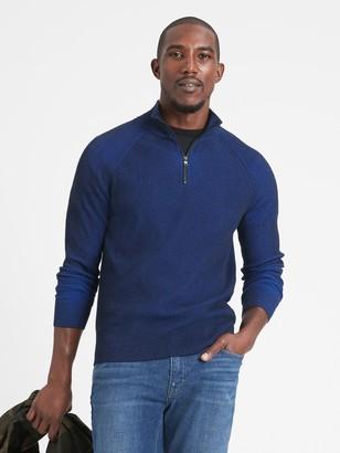 Banana Republic SUPIMA Half-Zip Sweater