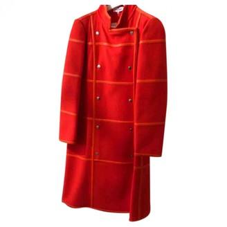 Courreges Red Wool Coat for Women Vintage