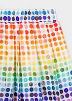 Girls' 8 + Years Multi-Coloured 'Buttons' Print Pleated Skirt