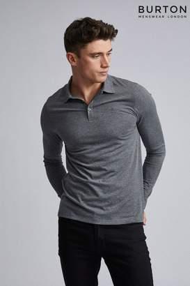 Burton Mens Long Sleeve Polo Shirt - Grey