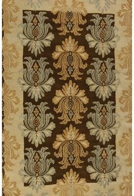 Soraya Astoria Grand Hand-Tufted Wool Brown/Tan Area Rug Astoria Grand Rug Size: 5' x 8'