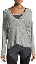 Vimmia Serenity V-Neck Sweatshirt, Gray