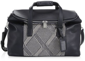 Giorgio Armani Textured Leather Travel Bag