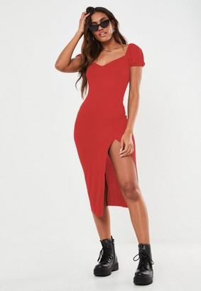 Missguided Split Detail Midaxi Dress