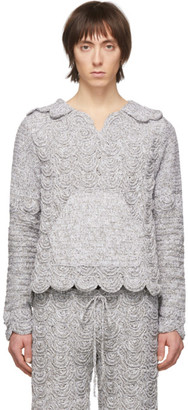 Judy Turner Silver Crochet Cleo Hoodie