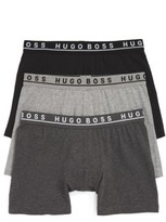 BOSS Men's 3-Pack Stretch Cotton Boxer Briefs