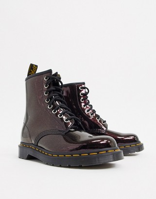 Dr. Martens 1460 boots in royal metallic leather