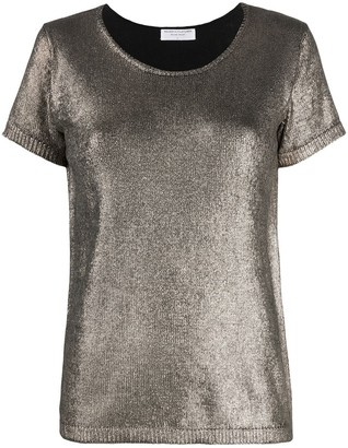Majestic Filatures metallic sheen T-shirt